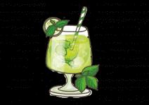Blu Hugo Cocktail-Minze